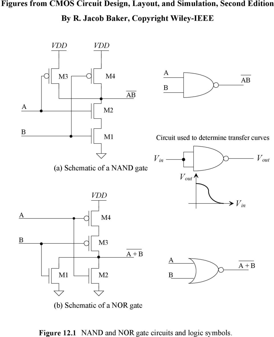 Figures From Cmos Circuit Design Layout And Simulation Second Logic Diagram Simulator Gate V In Out M4 M3 M1 M2