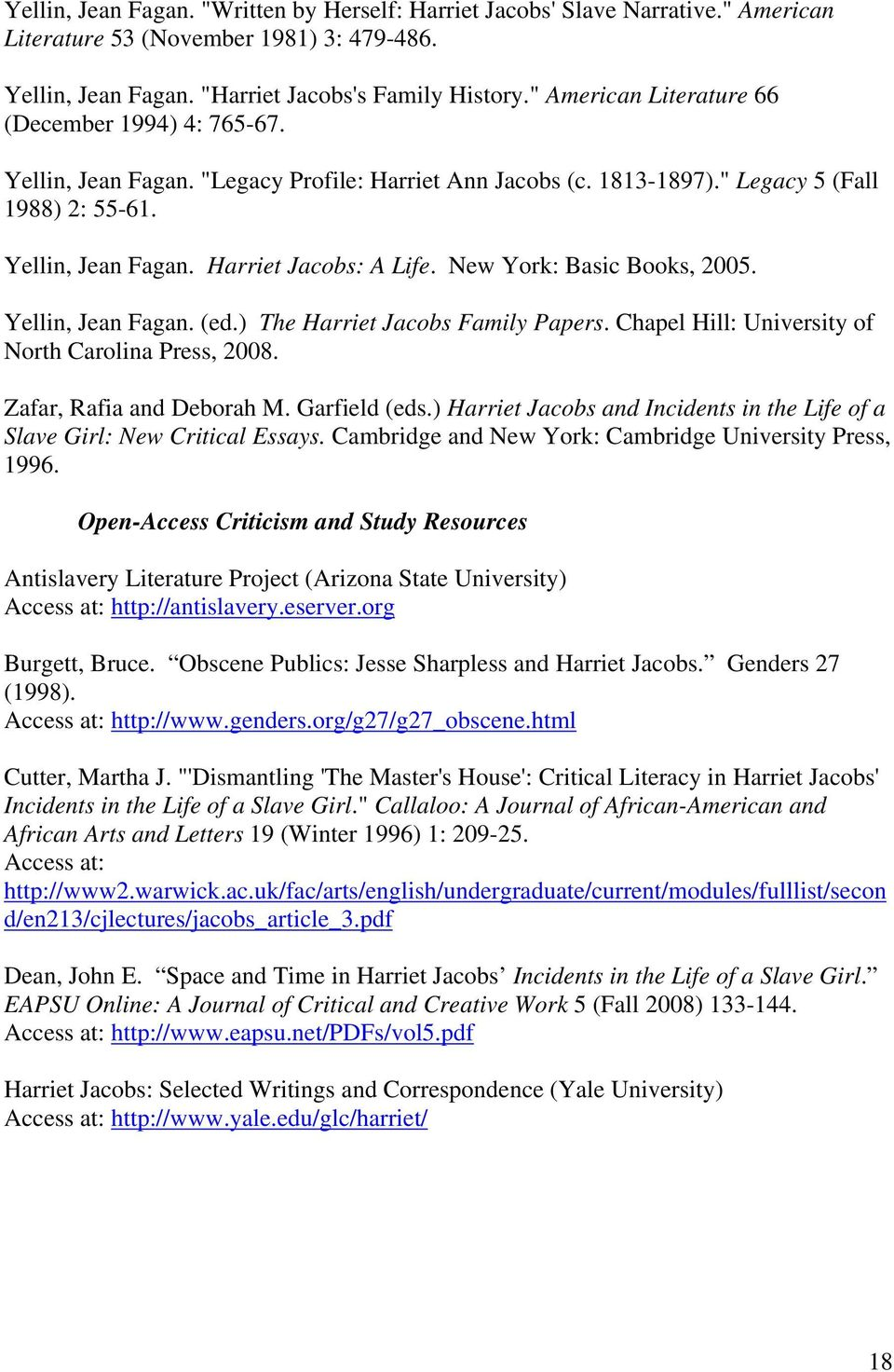 Harriet Jacobs Incidents in the Life of a Slave Girl - PDF