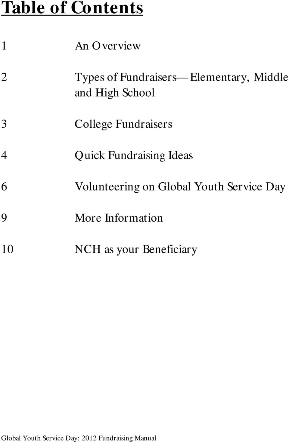 global youth service day pdf