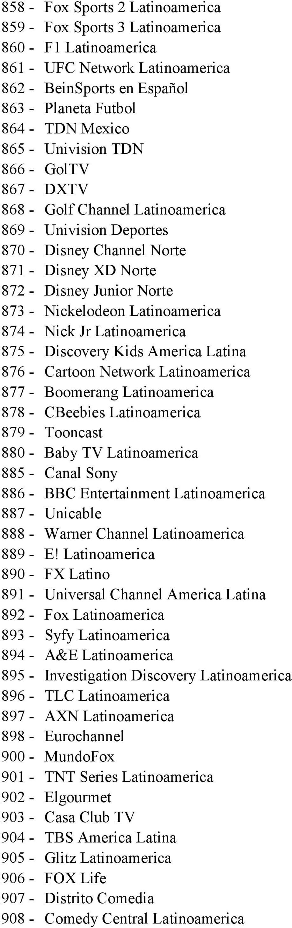 NFPS IPTV Channel List Updated: August 30, PDF