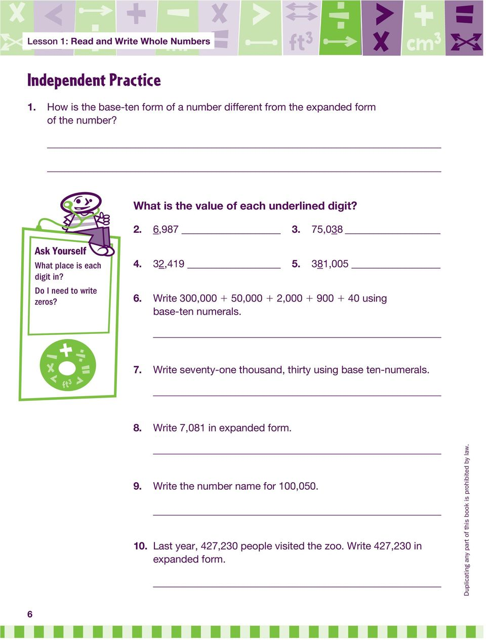 Number And Operations In Base Ten Read And Write Whole Numbers Nbt