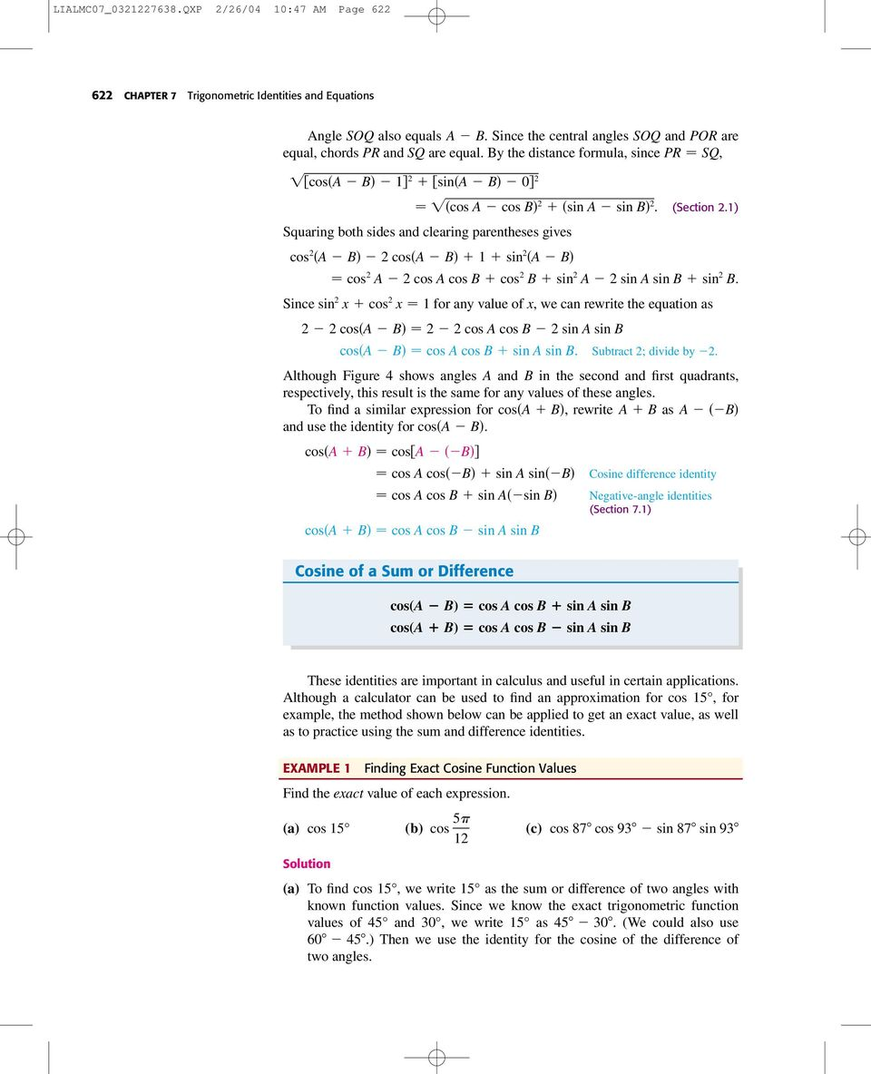 Trigonometric Identities And Equations Pdf
