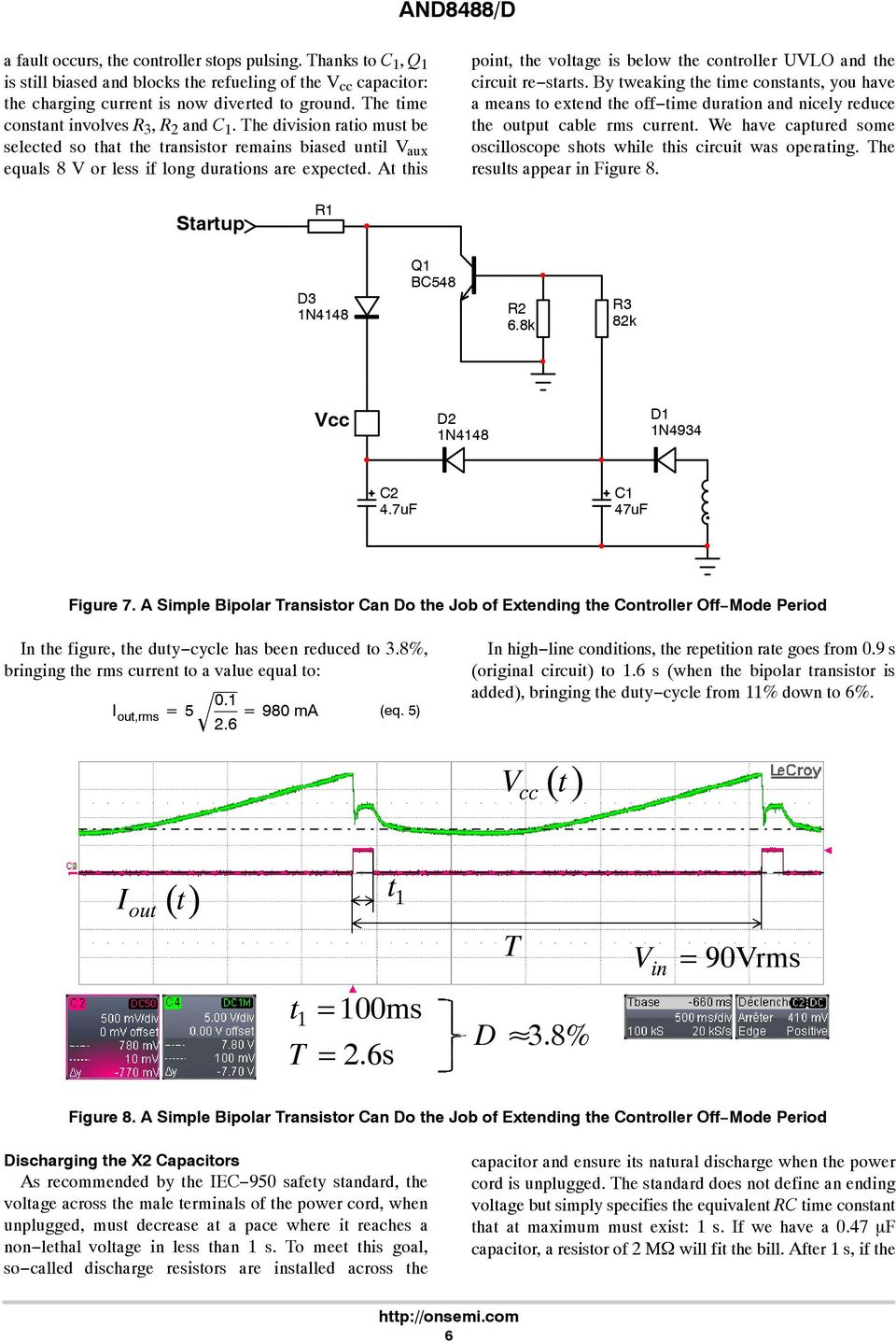 And8488 D Tips And Tricks For The Ncp1250 Application Note Pdf Stf202 Usb Upstream Port Filter Tvs Emi Filtering Esd Controller Uvlo Circuit Re Starts By Tweaking Time Constants You Have
