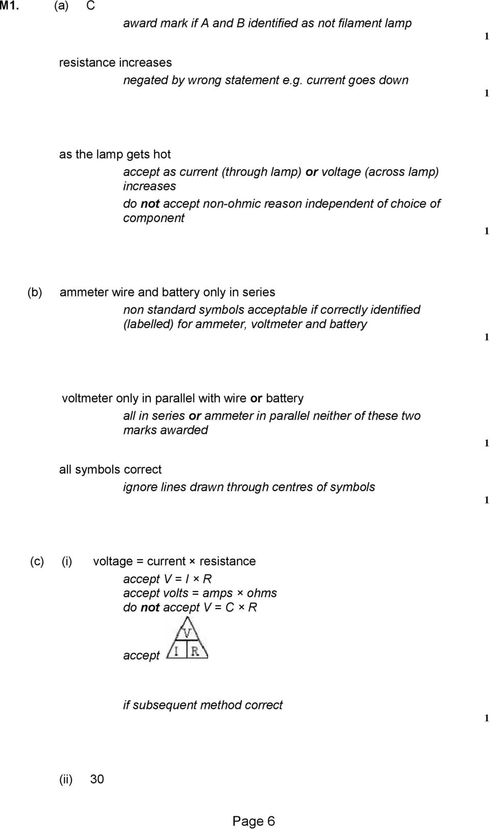 Q1 A The Diagram Shows The Voltage Current Graphs For Three