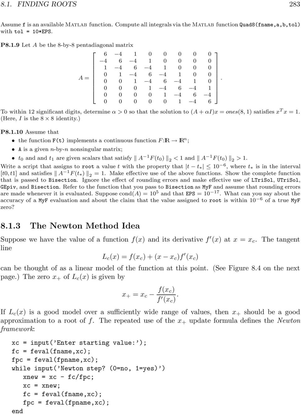 Nonlinear Equations and Optimization - PDF