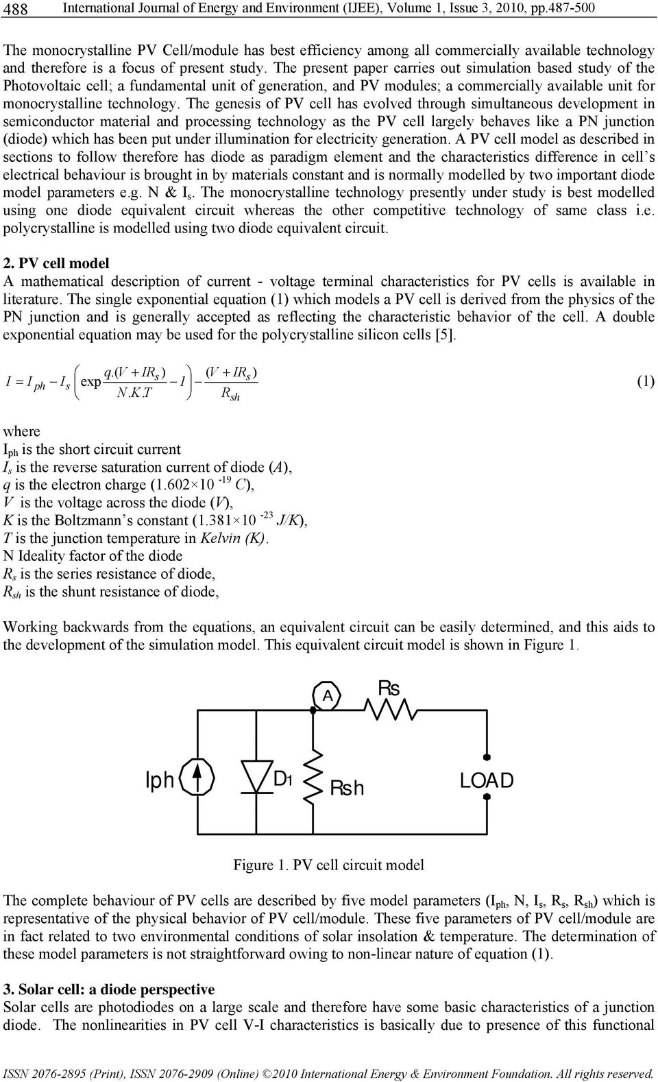 Matlab / simulink based study of photovoltaic cells
