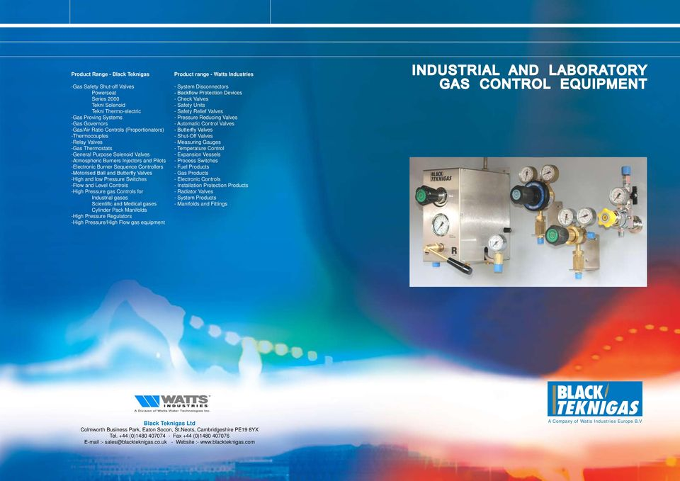 INDUSTRIAL AND LABORATORY GAS CONTROL EQUIPMENT - PDF