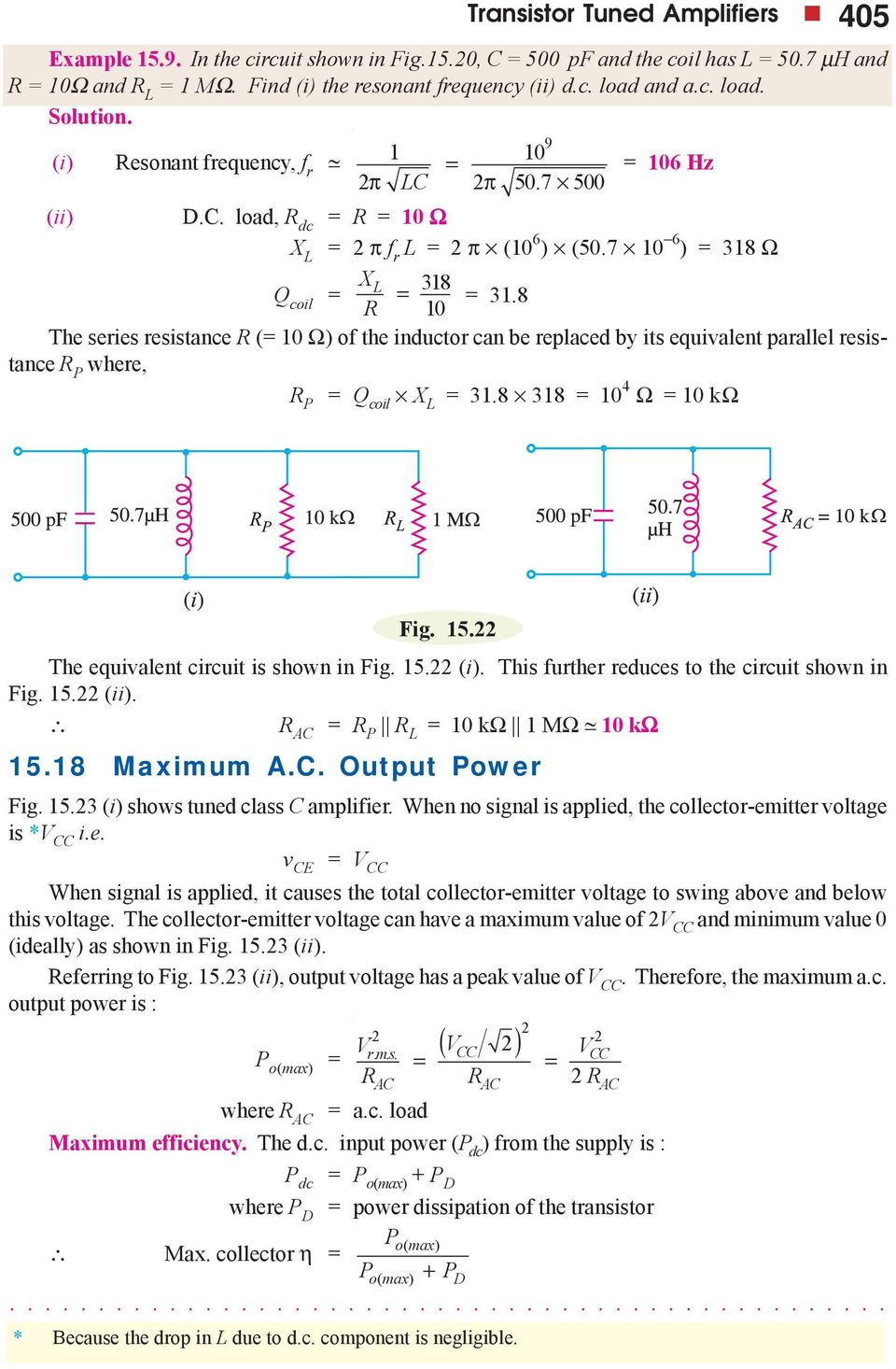 Transistor Tuned Amplifiers Pdf Series Resonance In Ac Circuits Tutorial Phasors And 7 0 6 38 Q Coil X The Resistance