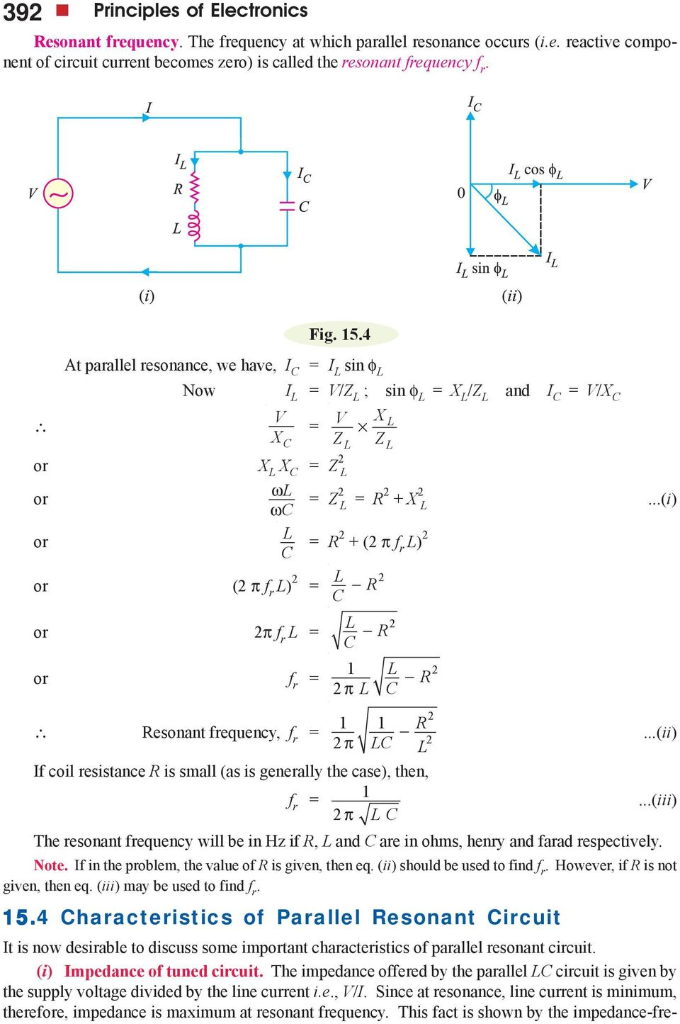 Transistor Tuned Amplifiers Pdf Finding Resistance In A Parallel Circuit I Or C F R