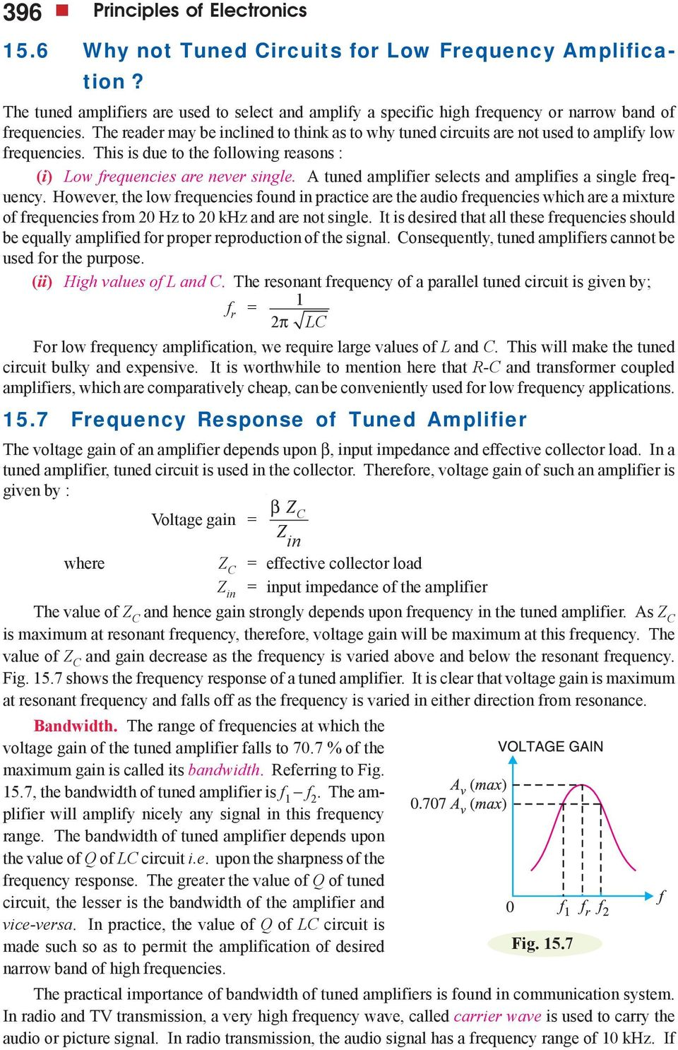 Transistor Tuned Amplifiers Pdf Amplifier Have Over Normal Single Or Multistage A Selects And Amplifies Frequency