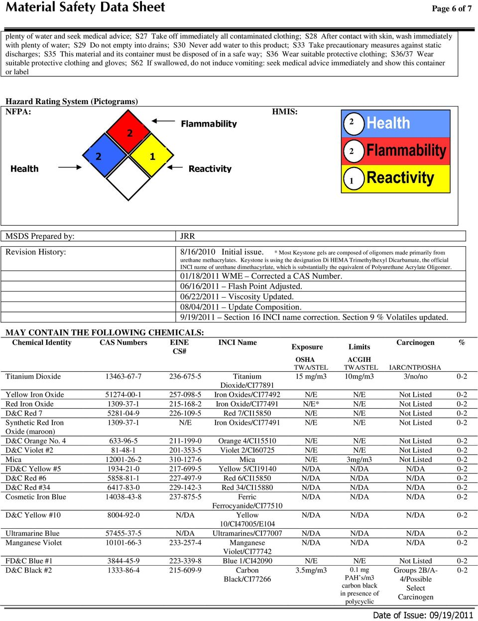 Material Safety Data Sheet Page 1 of 7 - PDF