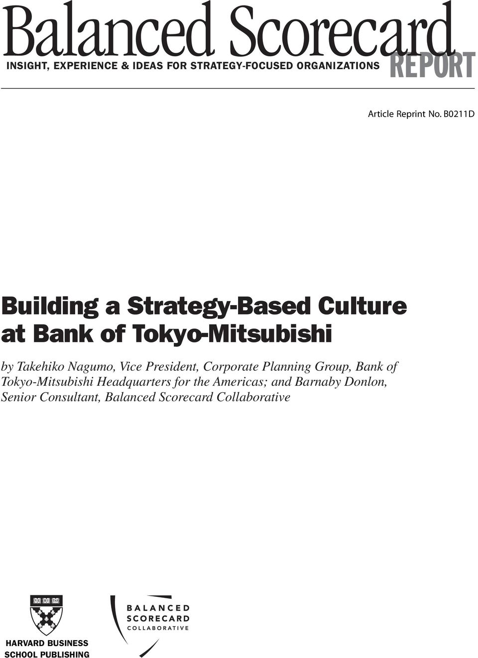 INSIGHT, EXPERIENCE & IDEAS FOR STRATEGY-FOCUSED
