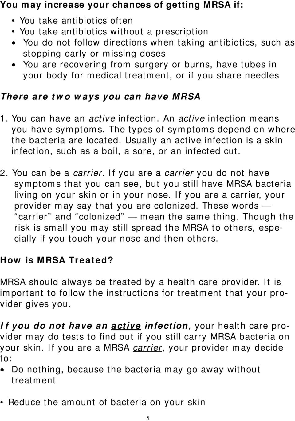 What is MRSA and How Does It Impact Me? - PDF