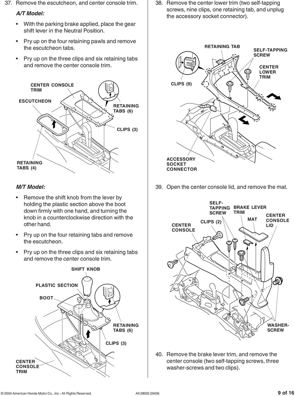 Installation Instructions Pdf Tow Harness Self Center Remove The Lower Trim Two Tapping Screws Nine Clips One