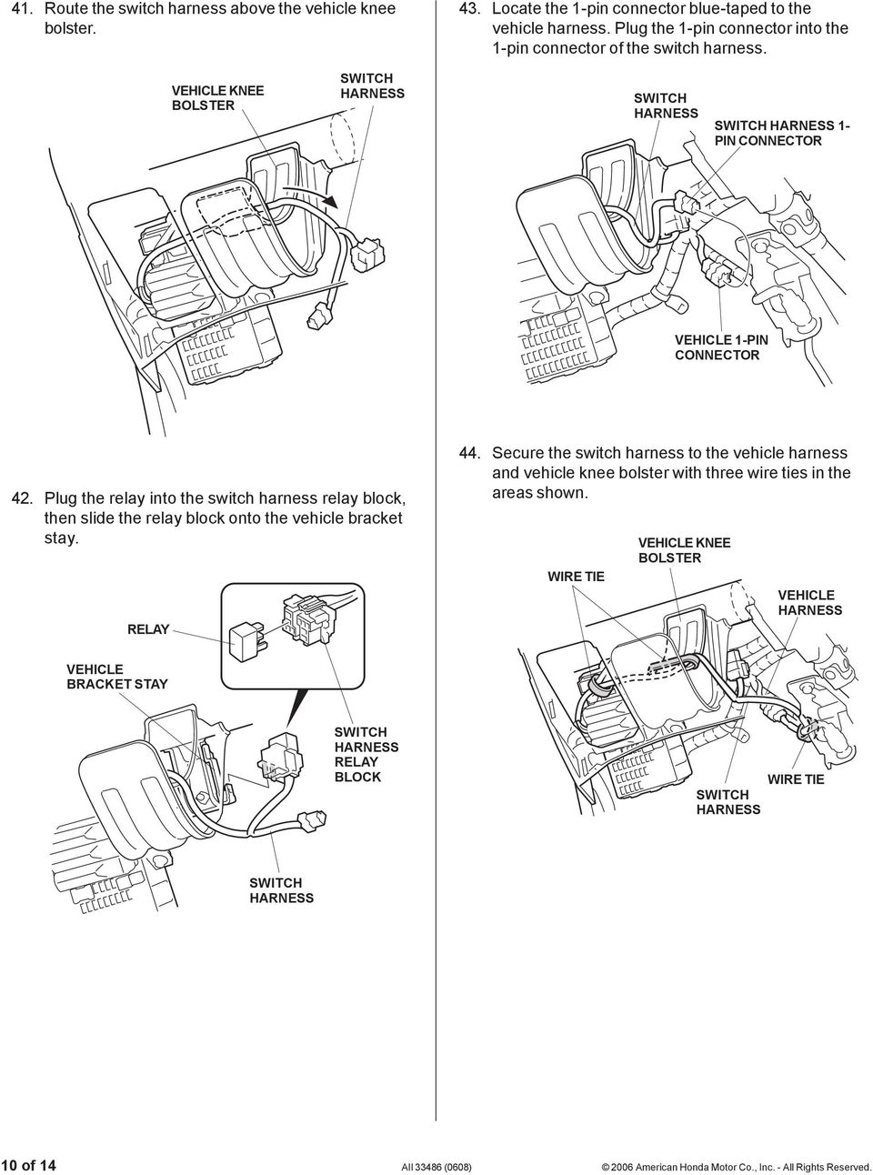 Installation Instructions Pdf Rib Harness Clip Wiring Plug The Relay Into Switch Block Then Slide Onto