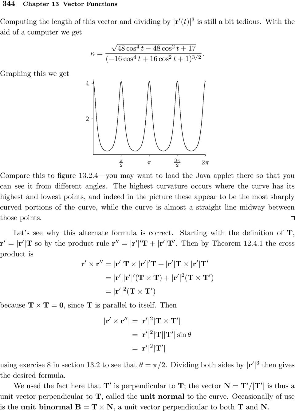 Vector Functions  EXAMPLE Describethecurves cost,sint,0, cost,sint,t