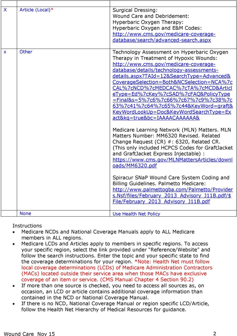 national medical policy pdf rh docplayer net Wound Care Handouts Wound Care Education