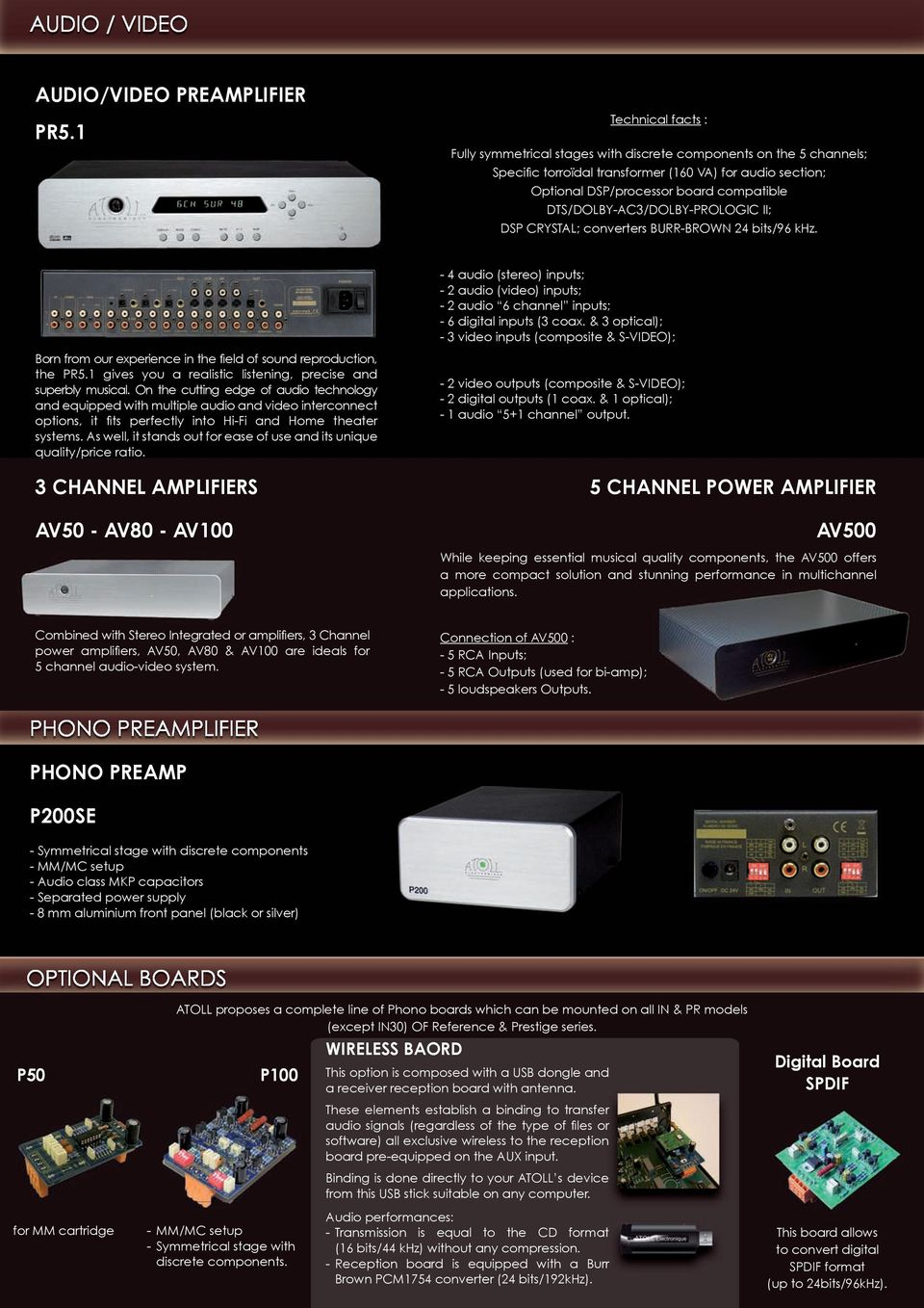 Hifi Products Designed And Made In France Pdf Class A Symmetrical Audio Preamplifier Dts Dolby Ac3 Prologic Ii Dsp Crystal Converters Burr