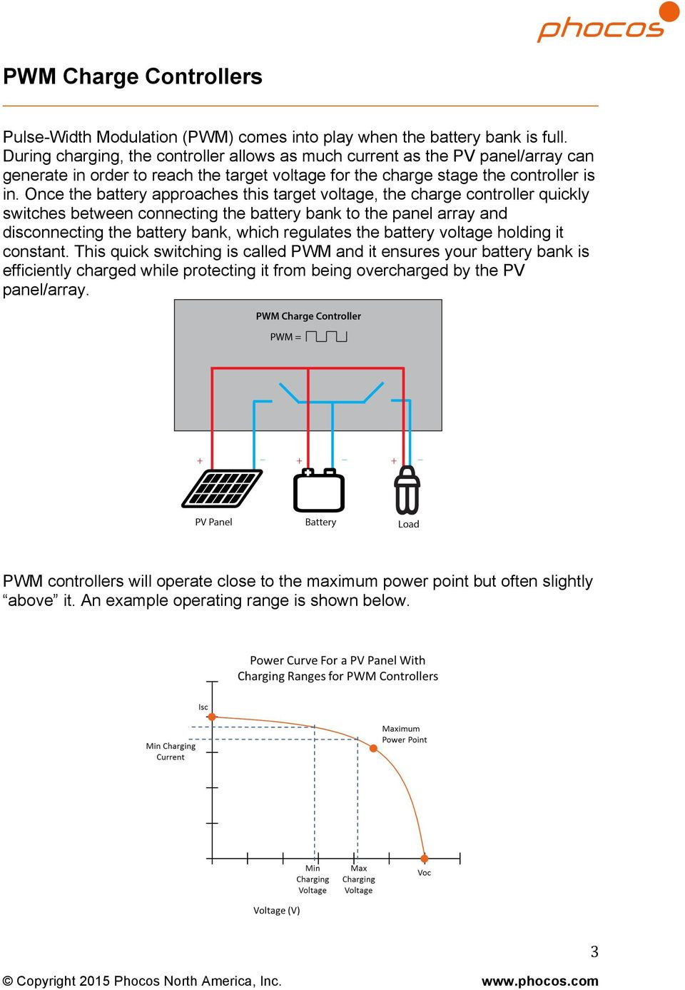 Comparing Pwm Mppt Charge Controllers Pdf Simple Controlled Dc To Cell Phone Charger Circuit Science Once The Battery Approaches This Target Voltage Controller Quickly Switches Between Connecting