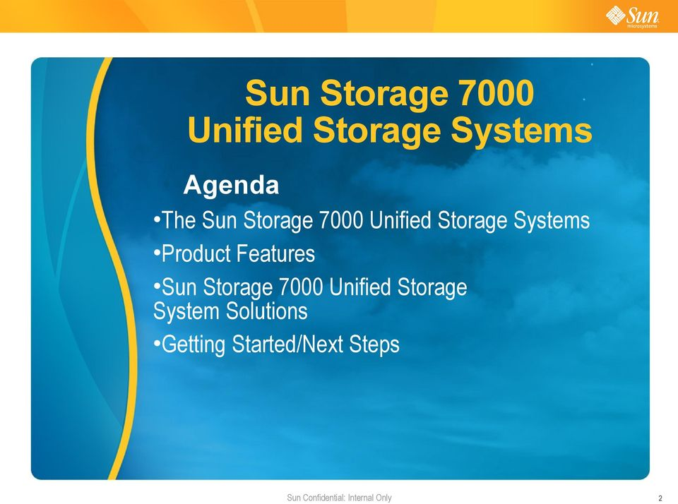 Unified Storage System Solutions Getting