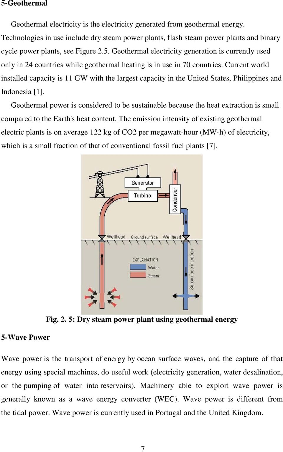 List Of Contents Tablesiii Figures Iv Dry Steam Power Plant Diagram Geothermal Electricity Generation Is Currently Used Only In 24 Countries While Heating Use