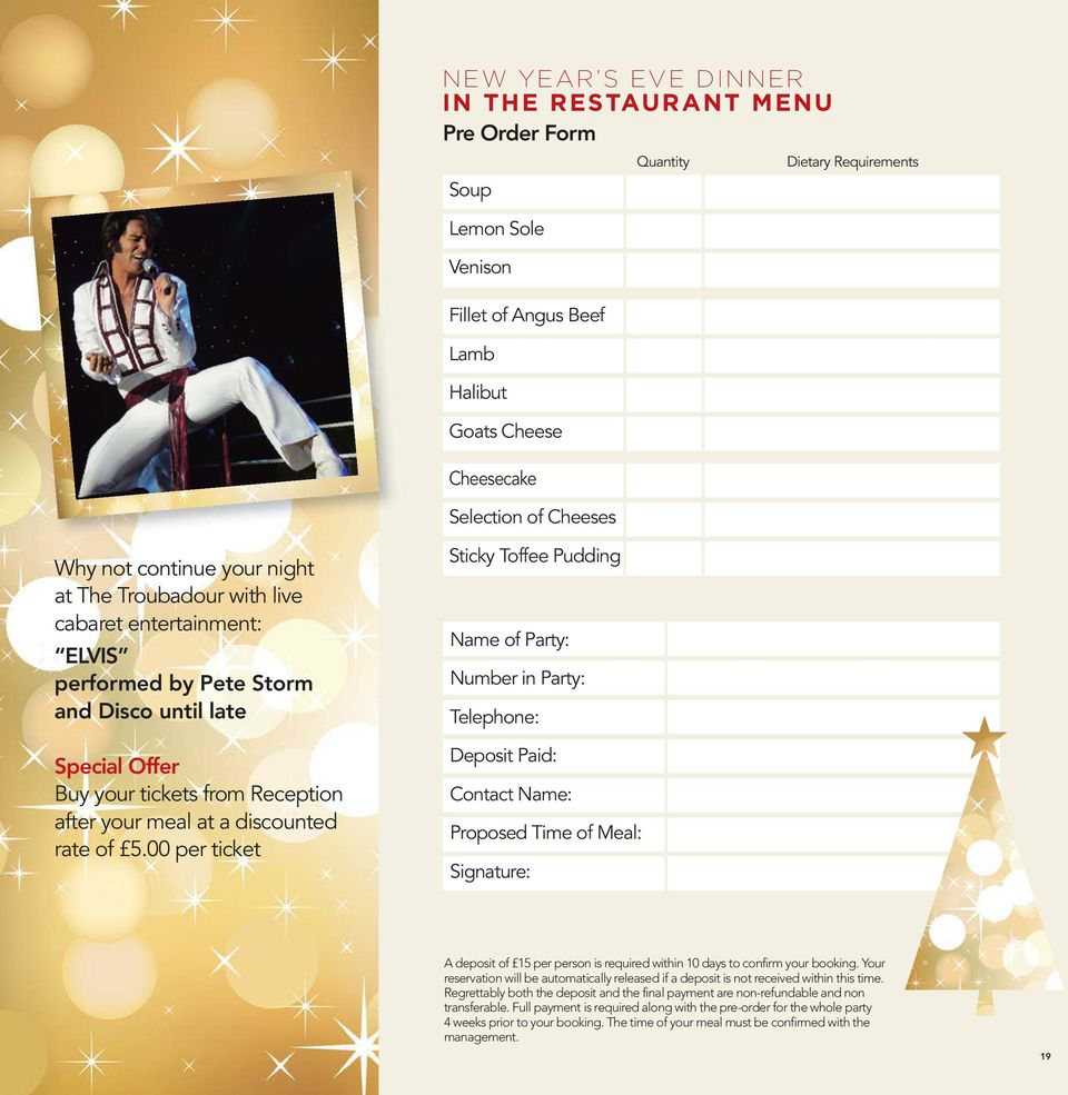 THE GOLDEN LION HOTEL NORTHALLERTON CHRISTMAS BROCHURE 2016/17 - PDF