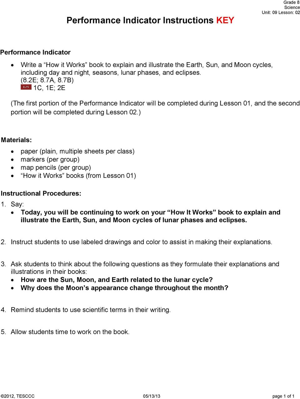 Science Grade 08 Unit 09 Exemplar Lesson 02 Phases And Eclipses Pdf Image Moonphasesdiagramjpg For Term Side Of Card Materials Paper Plain Multiple Sheets Per Class Markers Group