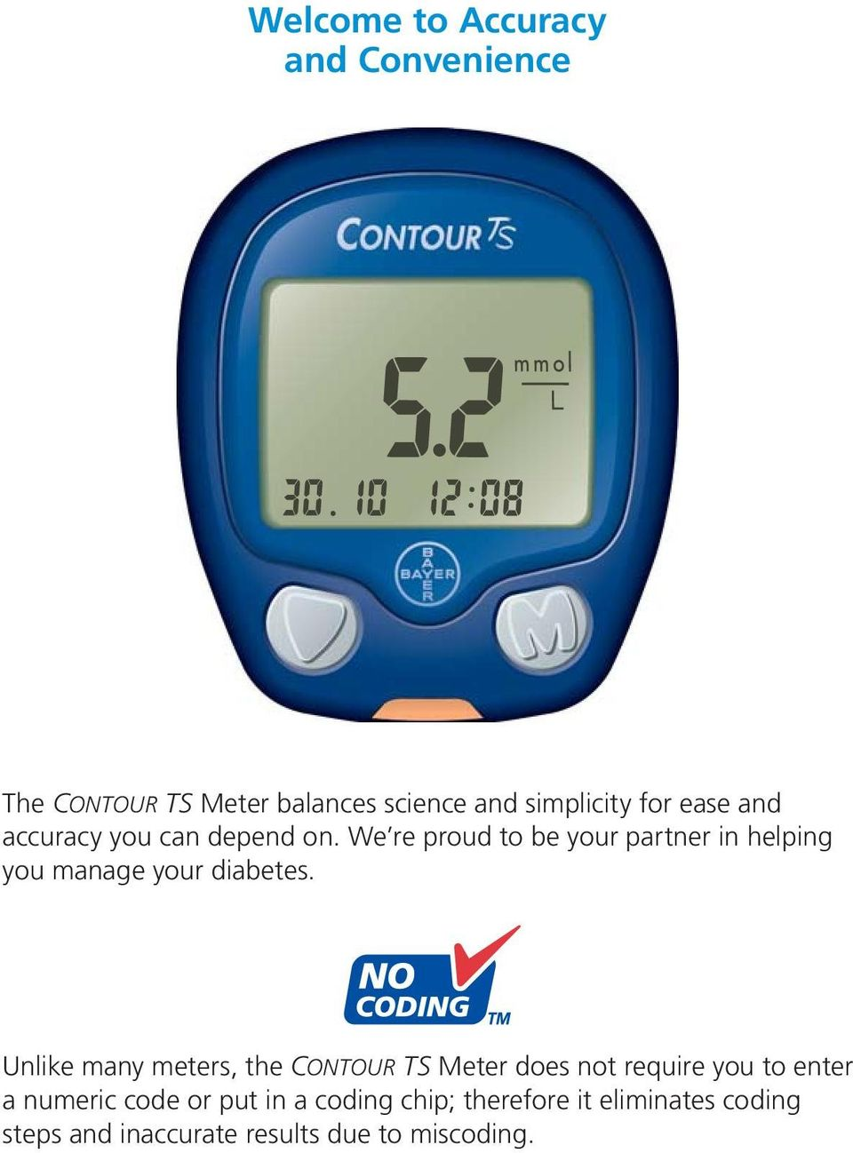 blood glucose monitoring system user guide for use with contour ts rh docplayer net Bayer Contour TS Contour TS Monitor