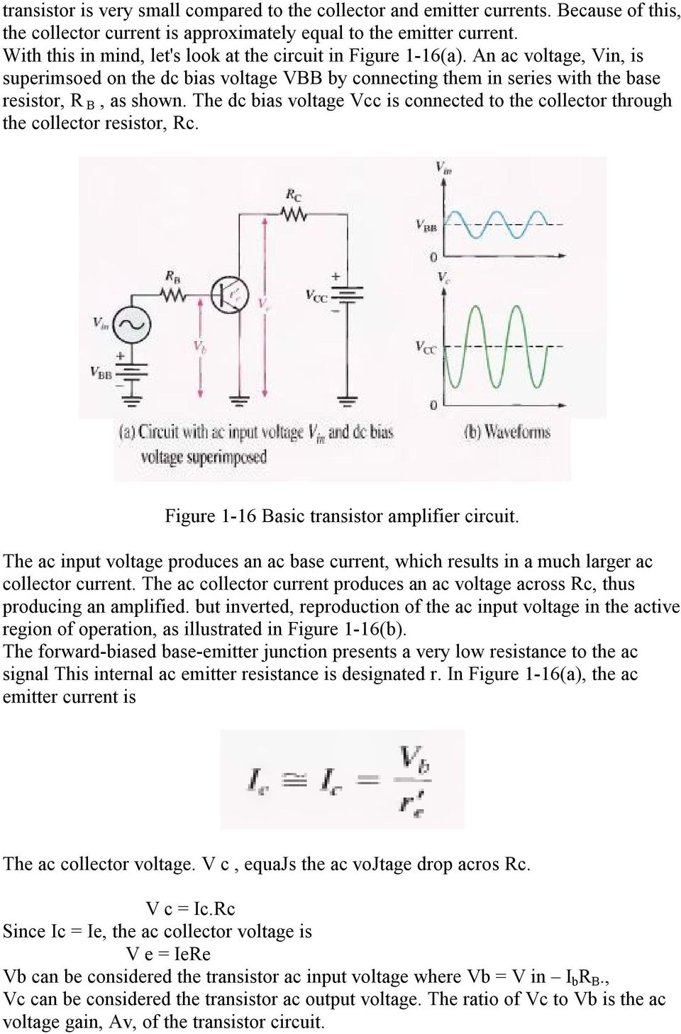 Chapter One Bipolar Junction Transistors Pdf Microwave Transistor Amplifier A Circuit Diagram B Schematic Design The Dc Bias Voltage Vcc Is Connected To Collector Through Resistor Rc