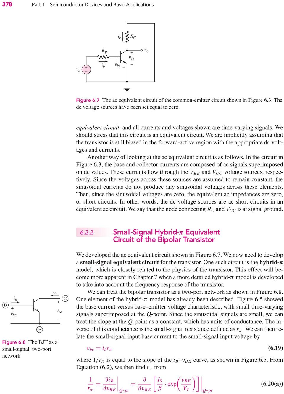 Basic Bjt Amplifiers Chapter Preview Pdf An Ac Coupled Emitter Follower Common Collector Circuit Showing We Are Implicitly Assuming That The Transistor Is Still Biased In Forward Active Region 11 6