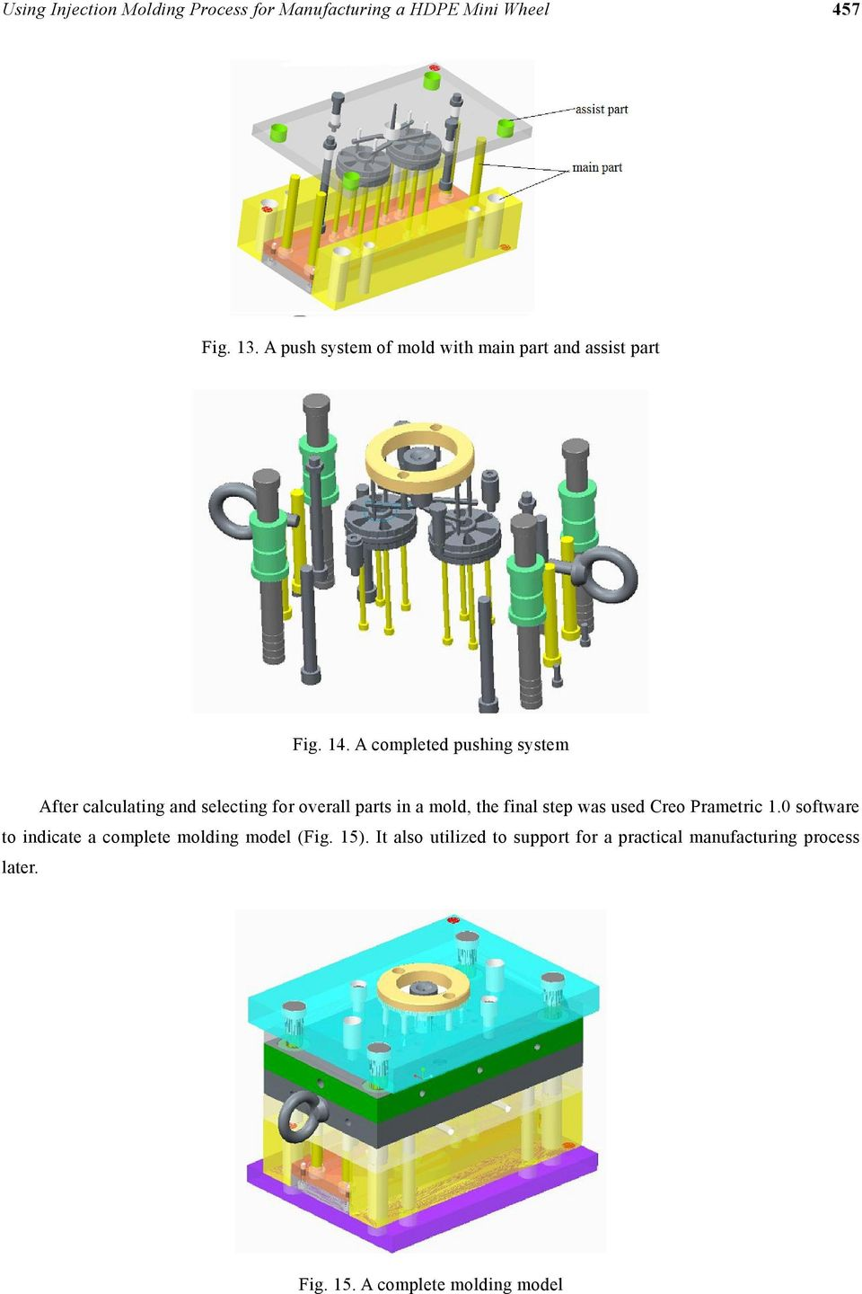 Using Injection Molding Process for Manufacturing a HDPE Mini Wheel