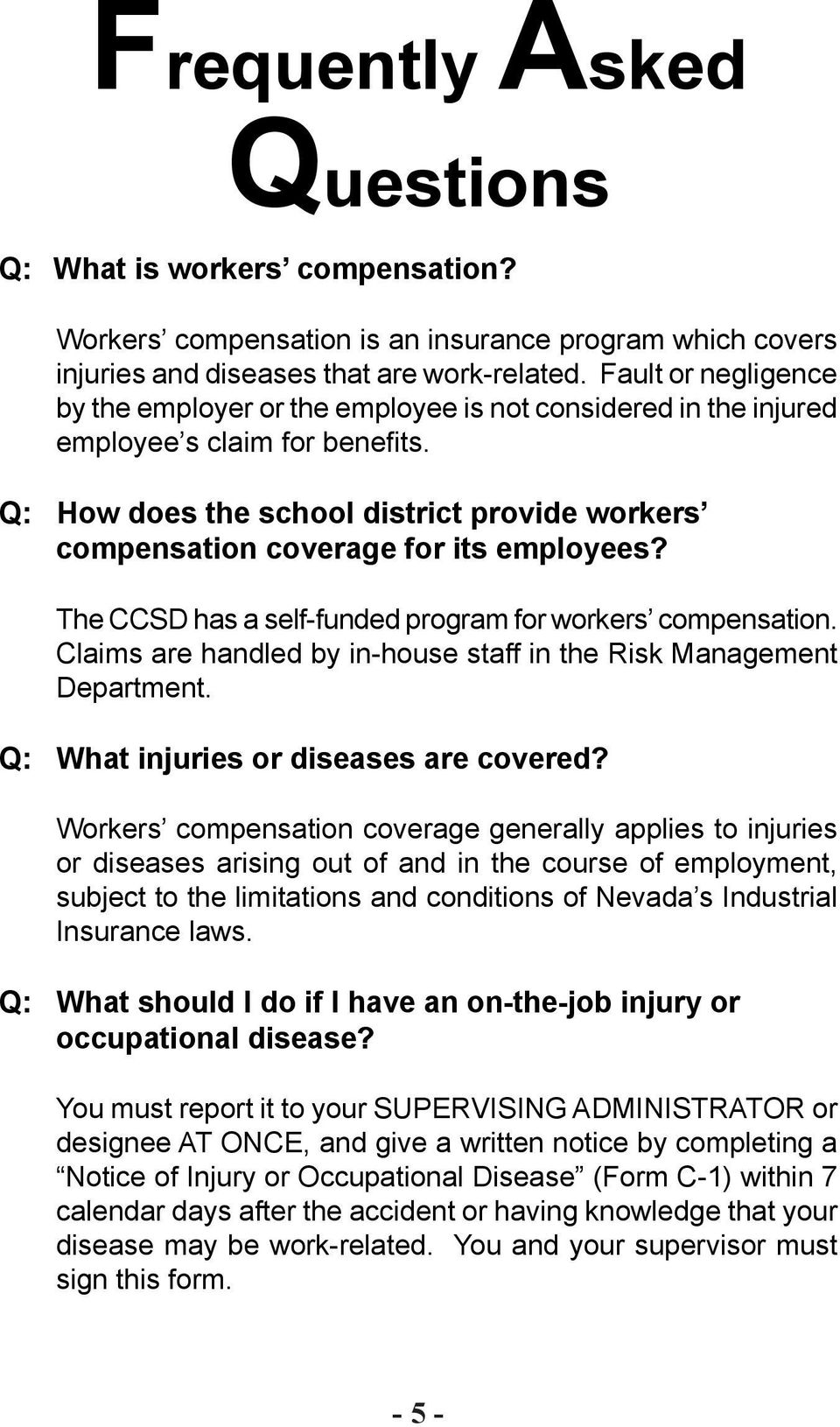 AN EMPLOYEE S GUIDE TO WORKERS COMPENSATION - PDF