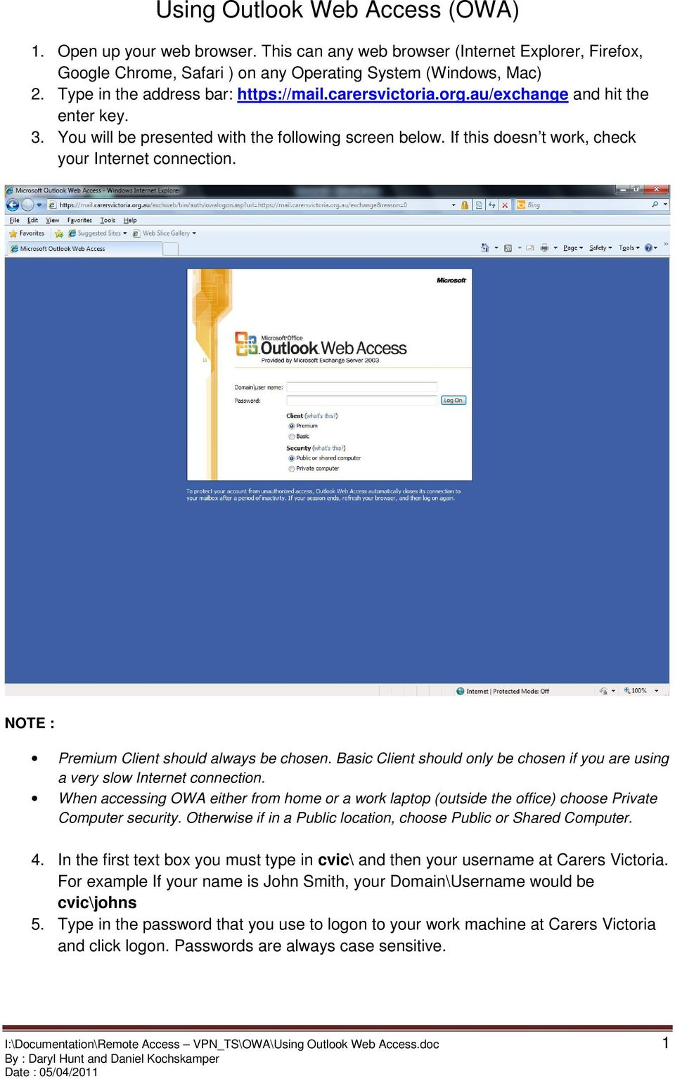 Using Outlook Web Access Owa Pdf