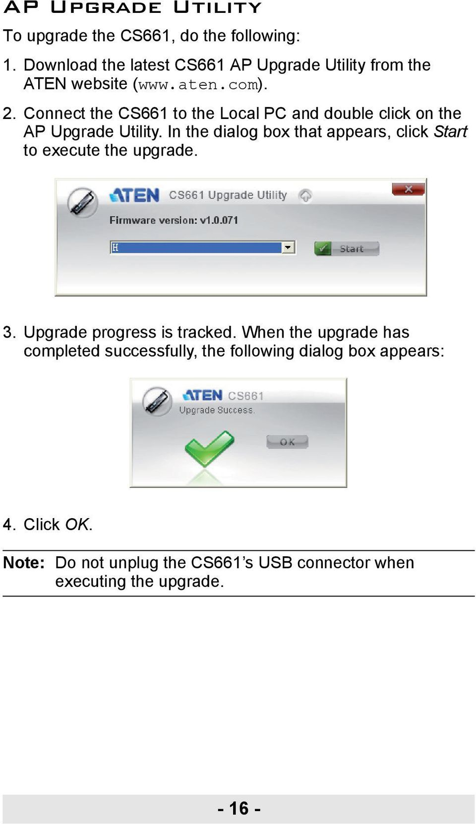 Connect the CS661 to the Local PC and double click on the AP Upgrade Utility.