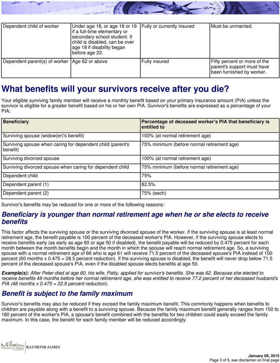 What benefits will your survivors receive after you die?