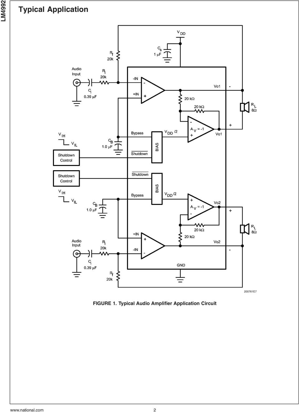 Lm Mw Stereo Cell Phone Audio Amplifier Pdf 25w Hifi With Mosfet Circuit Diagram Typical
