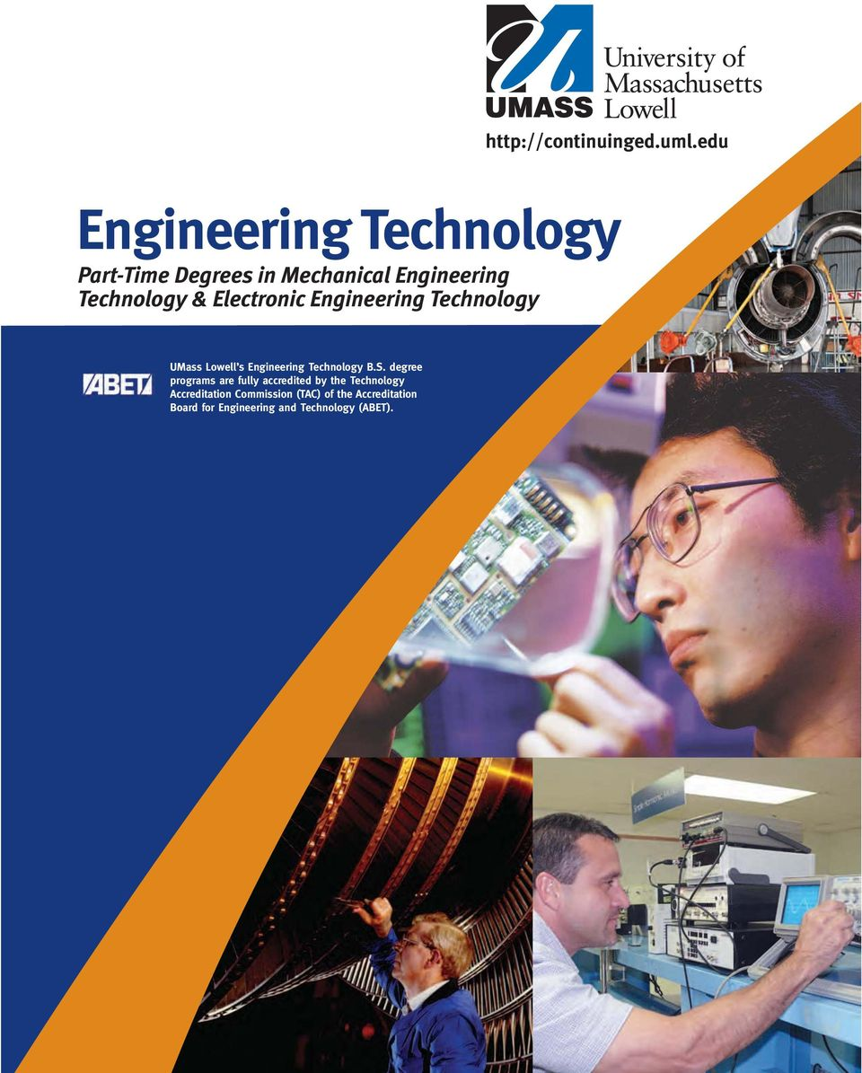 Electronic Engineering Technology UMass Lowell s Engineering Technology B.S.