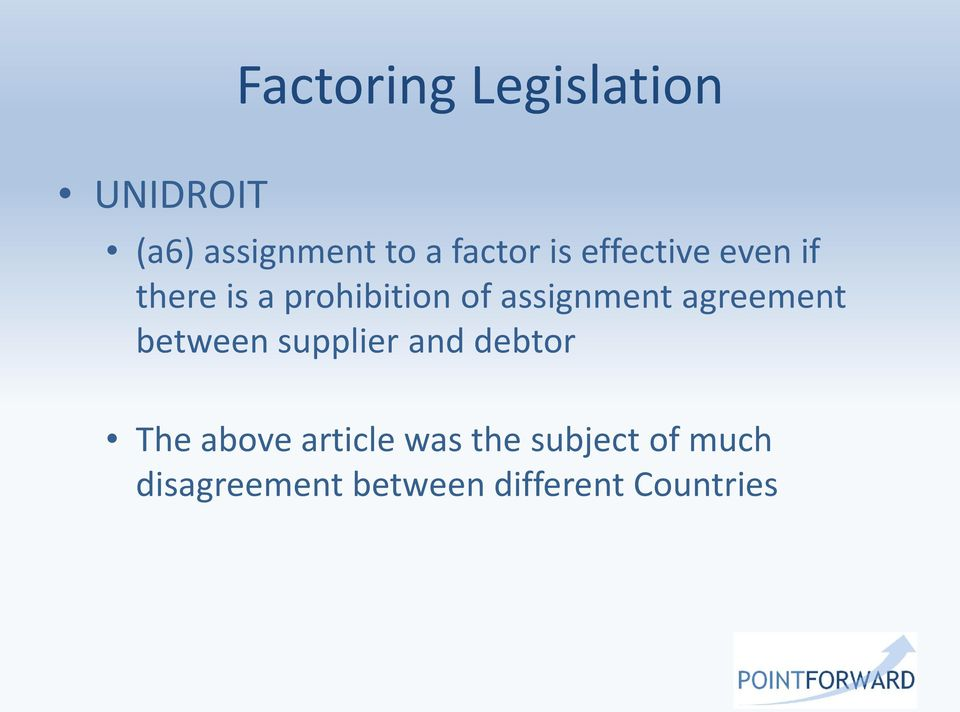Factoring Legislation And Regulation Douala Cameroon 22nd November Pdf