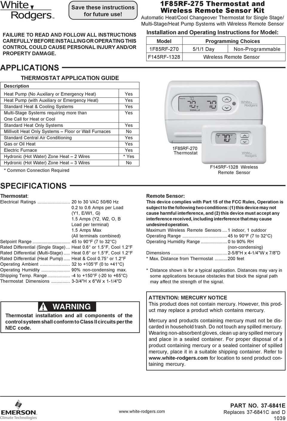 Quick Installation Guide Pdf How To Wire An Air Conditioner For Control 5 Wires Requiring More Than One Call Heat Or Cool Standard Only Systems Millivolt Caution