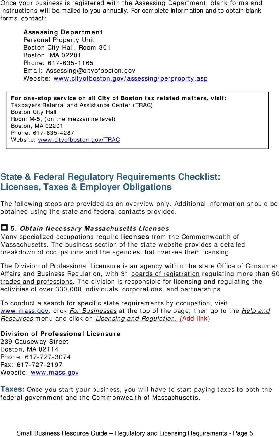 Ma Division Of Professional Licensure >> City Of Boston Regulatory Requirements Checklist Zoning Permitting