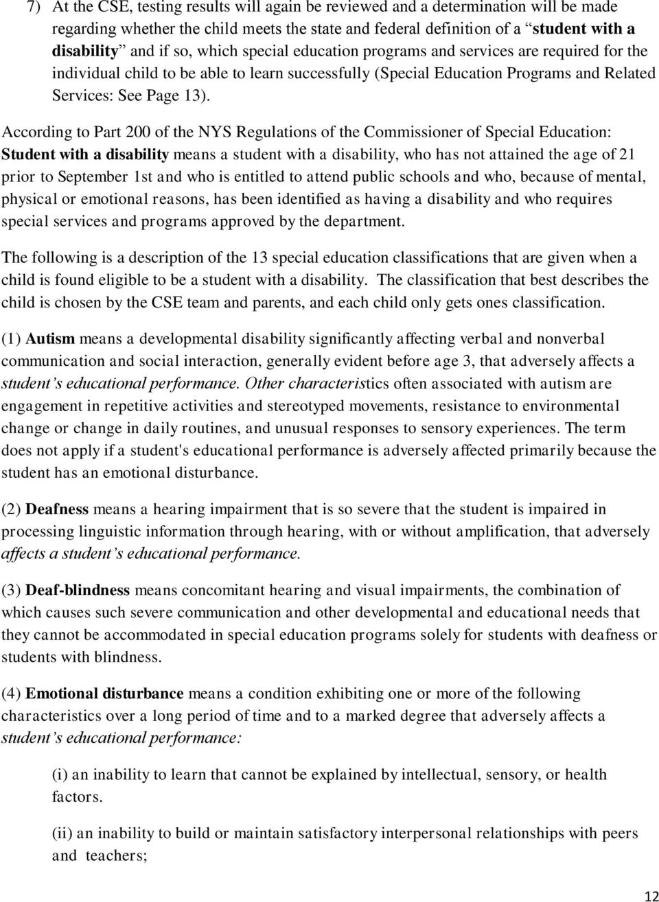 explain the relationship between disability and special educational needs