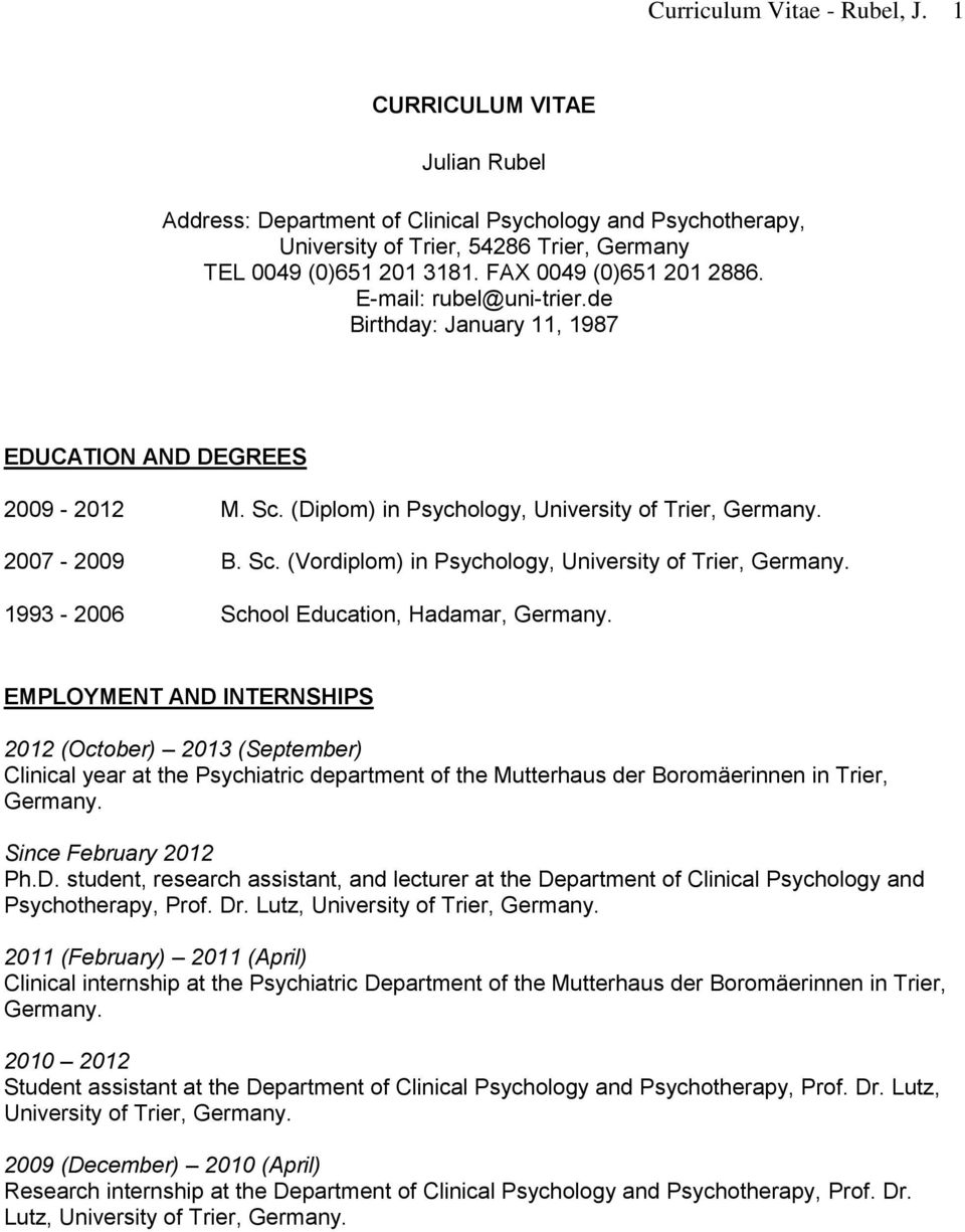 1993 2006 school education hadamar germany 2 curriculum vitae