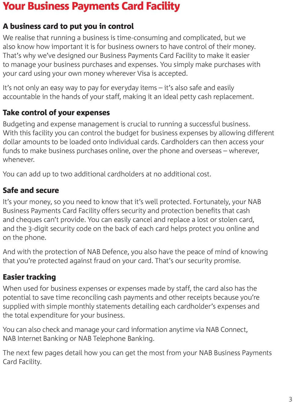 Essential Information  NAB Business Payments Card  - PDF
