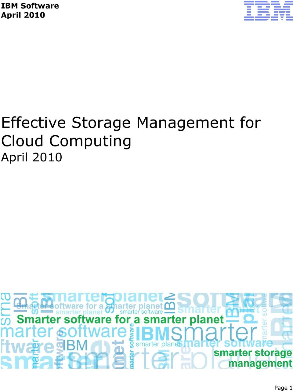 Cloud Computing April 2010