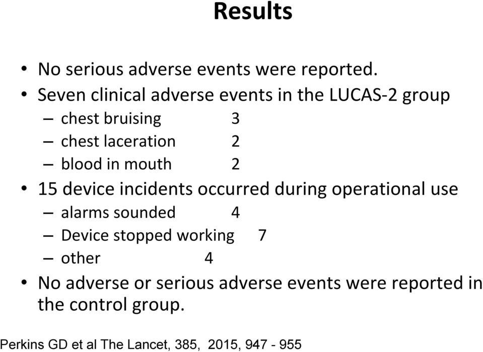 in mouth 2 15 device incidents occurred during operational use alarms sounded 4 Device