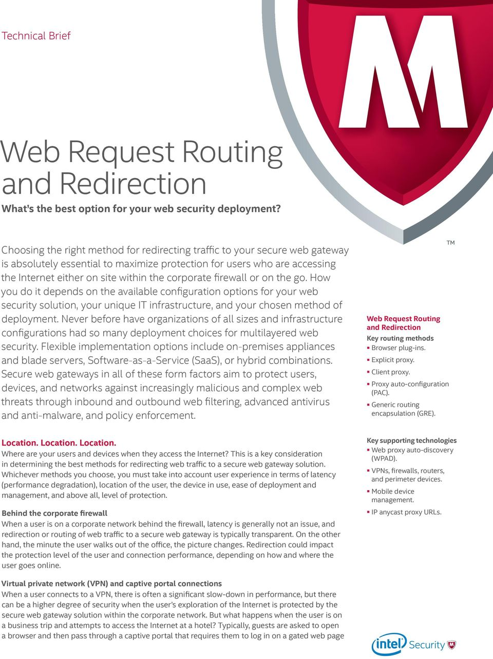 Web Request Routing  Technical Brief  What s the best option