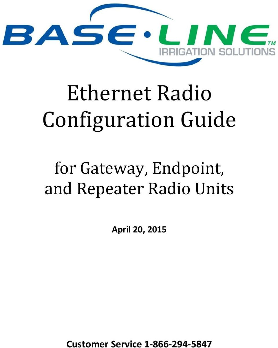 Repeater Radio Units April 20,