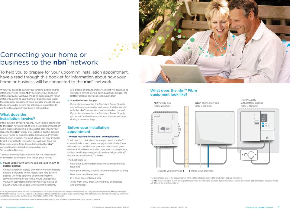 Preparing for your connection to the nbn network - PDF