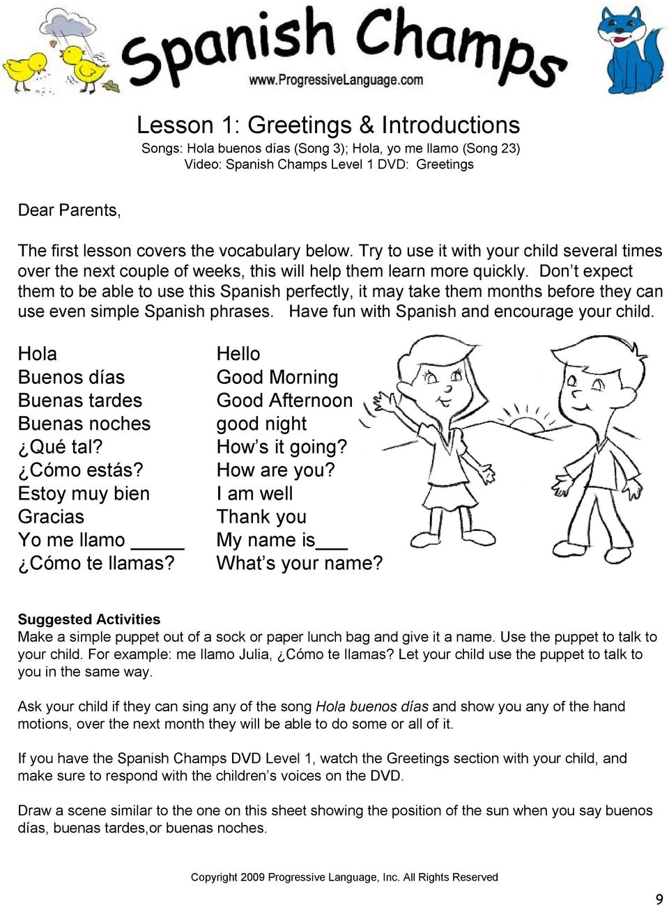 Program Overview Chart Sample Parent Letter 2 Overview Of Resources