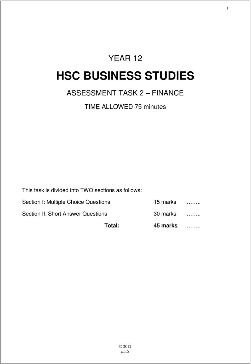 HSC BUSINESS STUDIES - PDF